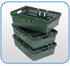 Badcock golfball stackable crates